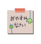 手書きメモ風マステなカラフル敬語スタンプ(個別スタンプ:40)