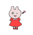 きら目のうさぎ/ 敬語- さくら& ハートMix(個別スタンプ:21)