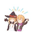 魔法使いの姉妹ちゃん(個別スタンプ:01)