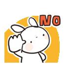 シンプルうさ、断る!(個別スタンプ:08)