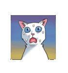 「瞬く」の白猫は見た(個別スタンプ:24)