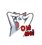 「瞬く」の白猫は見た(個別スタンプ:28)
