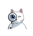 「瞬く」の白猫は見た(個別スタンプ:32)