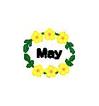 お花のリース*月齢*曜日*英語編集(個別スタンプ:17)