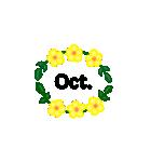 お花のリース*月齢*曜日*英語編集(個別スタンプ:22)