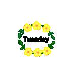 お花のリース*月齢*曜日*英語編集(個別スタンプ:27)