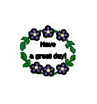 お花のリース*月齢*曜日*英語編集(個別スタンプ:34)