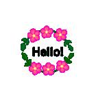 お花のリース*月齢*曜日*英語編集(個別スタンプ:40)