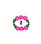 お花のリース*日常*月齢*連絡(個別スタンプ:16)