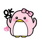 ピンクのペンギンさん。(個別スタンプ:06)