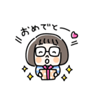 おかっぱめがねのスタンプ/日常(個別スタンプ:13)