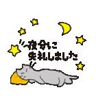 丁寧な気遣いの気持ちを敬語で伝える猫と花(個別スタンプ:10)