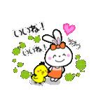 ぴよこ&うさこ仲良しほのぼの日常会話(個別スタンプ:15)