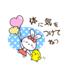 ぴよこ&うさこ仲良しほのぼの日常会話(個別スタンプ:16)