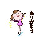 動く!可愛い丸顔フィギュアスケートガール(個別スタンプ:03)