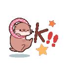 可愛いカワウソの日常系スタンプ(個別スタンプ:01)