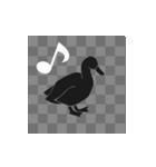 文字が全部、鳥になる(個別スタンプ:23)