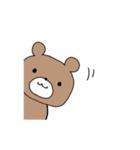 茶色のくまちゃん(個別スタンプ:29)