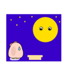 ピンクのペンギンさん。季節の彩り(個別スタンプ:23)
