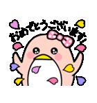 ピンクのペンギンさん。季節の彩り(個別スタンプ:28)