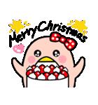 ピンクのペンギンさん。季節の彩り(個別スタンプ:39)