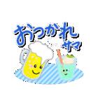 明るいカラフル大文字 & うさこ(個別スタンプ:04)