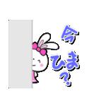 明るいカラフル大文字 & うさこ(個別スタンプ:07)