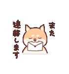 柴犬あんこ あいさつ編(個別スタンプ:14)