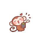 元気な猿さん(個別スタンプ:16)