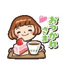 女子だから‥‥【CAFE編】(個別スタンプ:09)