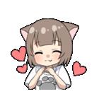 猫耳女子(個別スタンプ:02)
