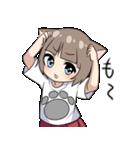 猫耳女子(個別スタンプ:04)