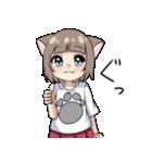 猫耳女子(個別スタンプ:22)