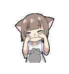猫耳女子(個別スタンプ:38)