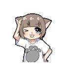 猫耳女子(個別スタンプ:39)
