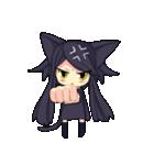 黒い猫耳娘ちゃん(個別スタンプ:01)