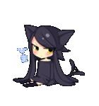 黒い猫耳娘ちゃん(個別スタンプ:02)