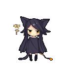 黒い猫耳娘ちゃん(個別スタンプ:03)