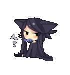 黒い猫耳娘ちゃん(個別スタンプ:04)