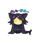 黒い猫耳娘ちゃん(個別スタンプ:05)