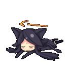 黒い猫耳娘ちゃん(個別スタンプ:06)