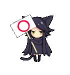 黒い猫耳娘ちゃん(個別スタンプ:07)