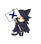 黒い猫耳娘ちゃん(個別スタンプ:08)