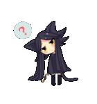 黒い猫耳娘ちゃん(個別スタンプ:11)