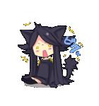 黒い猫耳娘ちゃん(個別スタンプ:12)