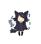 黒い猫耳娘ちゃん(個別スタンプ:16)