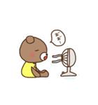 ほんわかクマの二郎|夏ver.(個別スタンプ:10)