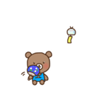 ほんわかクマの二郎|夏ver.(個別スタンプ:12)