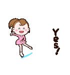 動く!英語版可愛い丸顔フィギュアスケート2(個別スタンプ:01)
