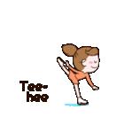 動く!英語版可愛い丸顔フィギュアスケート2(個別スタンプ:10)